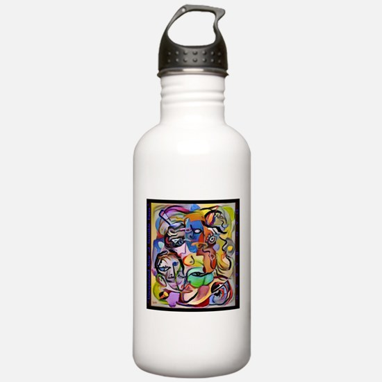 Unexplained Slew of Invisible Faces Water Bottle