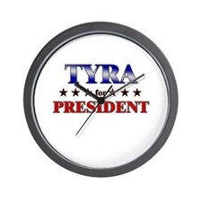 TYRA for president Wall Clock