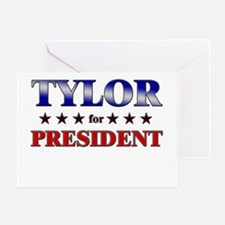 TYLOR for president Greeting Card