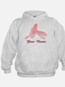 Personalized Pink Ballet Slippers Ballerina Hoodie