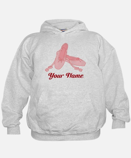 Personalized Pink Ballet Slippers Ballerina Hoodie
