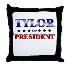 TYLOR for president Throw Pillow
