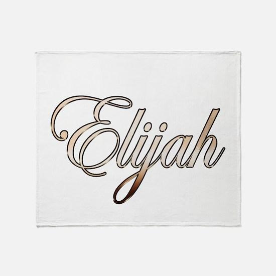 Gold Elijah Throw Blanket