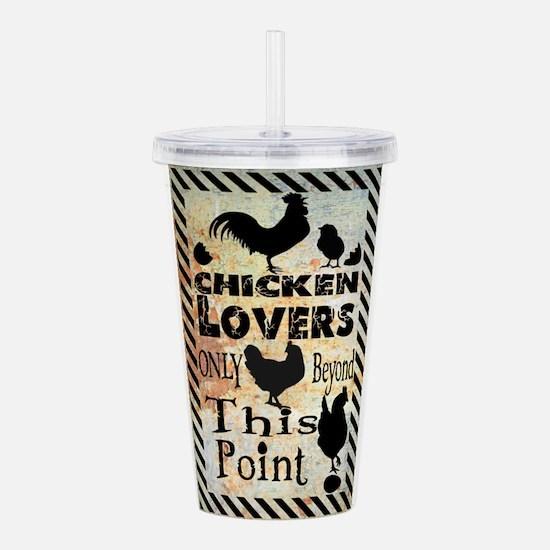 Cute Chicken farmer Acrylic Double-wall Tumbler