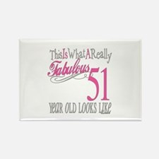 51st Birthday Gifts Rectangle Magnet
