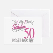 50th Birthday Gifts Greeting Card