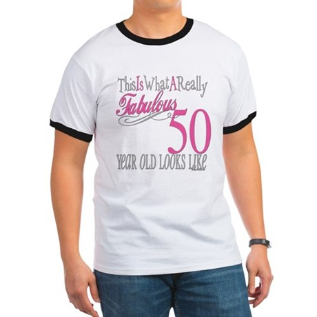 50th Birthday Gifts Ringer T