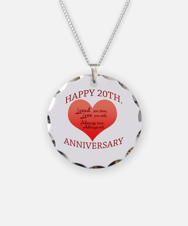 Cute 20th wedding anniversary Necklace