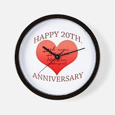 20th. Anniversary Wall Clock