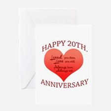 20th. Anniversary Greeting Cards