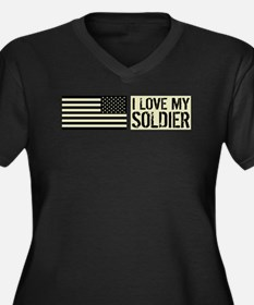 U.S. Army: I Women's Plus Size V-Neck Dark T-Shirt