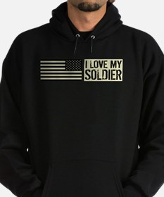 U.S. Army: I Love My Soldier (Black Hoodie (dark)