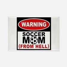 Soccer Mom from Hell Rectangle Magnet