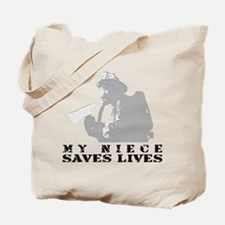 Firefighter Niece Saves Lives Tote Bag