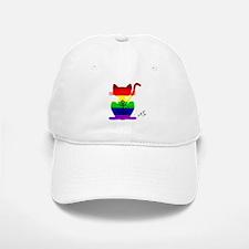 Gay rainbow anchor cat art Baseball Baseball Cap