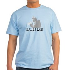 Firefighter Niece Saves Lives T-Shirt