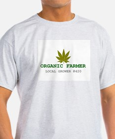 Sativa Leaf Organic Farmer - Organic Men's T-S