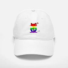 Gay rainbow at art bee Baseball Baseball Cap