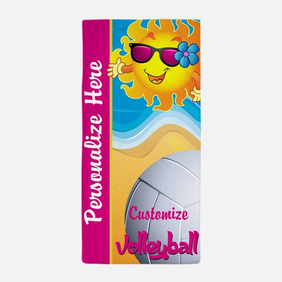 Volleyball Summer Custom Beach Towel