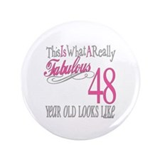 "48th Birthday Gifts 3.5"" Button"