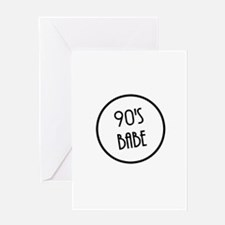 90's Babe Greeting Cards