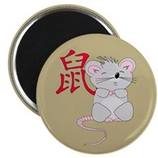"""Rat with Character 2.25"""" Magnet (10 pack)"""