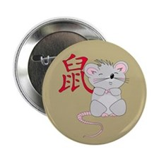 """Rat with Character 2.25"""" Button"""
