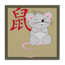 Rat with Character Tile Coaster