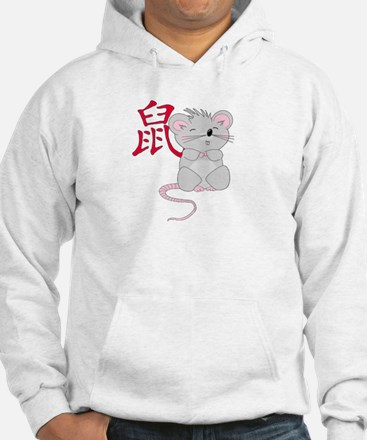 Rat with Character Hoodie