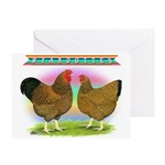 Golden Wyandottes Greeting Card