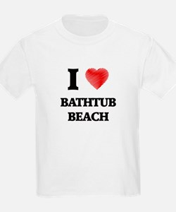 I love Bathtub Beach Florida T-Shirt