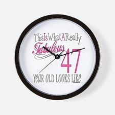 47th Birthday Gifts Wall Clock