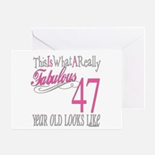 47th Birthday Gifts Greeting Card
