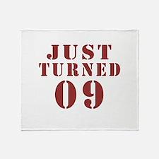 Just Turned 09 Birthday Throw Blanket