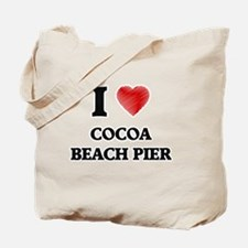 I love Cocoa Beach Pier Florida Tote Bag