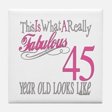 45th Birthay Gifts Tile Coaster