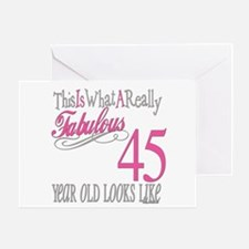 45th Birthay Gifts Greeting Card