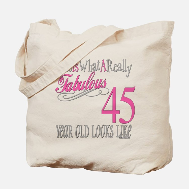 45th Birthay Gifts Tote Bag