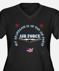 air force grandson Plus Size T-Shirt
