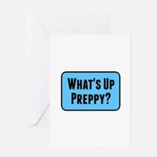 What's Up Preppy? Greeting Cards