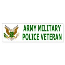 Military Police Corps <BR>Veteran Bumper Car Sticker