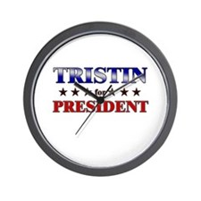 TRISTIN for president Wall Clock