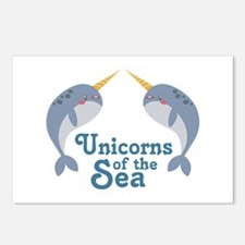 Unicorns Of Sea Postcards (Package of 8)