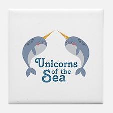 Unicorns Of Sea Tile Coaster