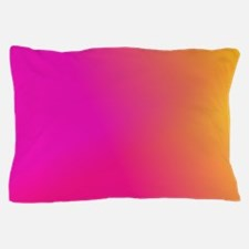Pink Orange Yellow Ombre Pillow Case