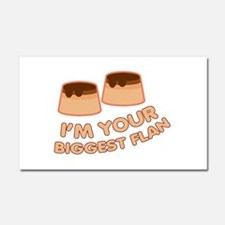 Biggest Flan Car Magnet 20 x 12