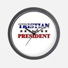 TRISTIAN for president Wall Clock