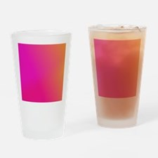 Pink Orange Yellow Ombre Drinking Glass