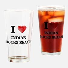 I love Indian Rocks Beach Florida Drinking Glass