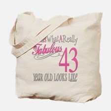 43rd Birthday Gifts Tote Bag